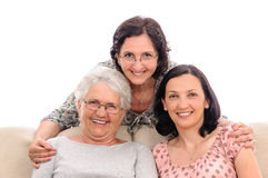 Women friends mature isolated Royalty Free Stock Photos