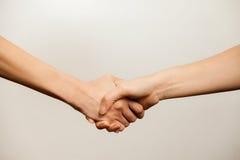 Women power. Women agreement, women power, women handshake Royalty Free Stock Photos