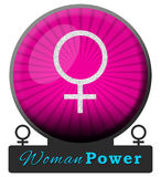 Women Power Pink Burst Circle Royalty Free Stock Photos