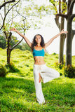 Women practicing yoga Royalty Free Stock Image