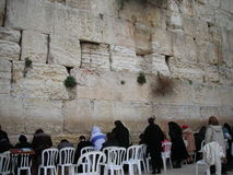 Women pray at The Wall Stock Images