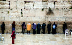 Women pray at the Western Wall in Jerusalem, Israel Royalty Free Stock Photography