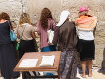 Women prays in the western wall Royalty Free Stock Photos
