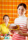 Women preparing to  Easter holiday Royalty Free Stock Images