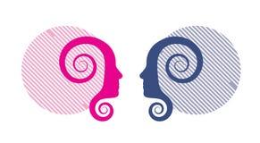 Women profile Stock Photo