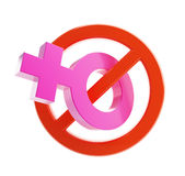 Women are prohibited from. Isolated on a white background Royalty Free Stock Photography