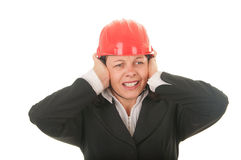 Women are protected from noise Royalty Free Stock Photos