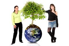 Women protecting the planet Stock Photo