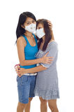 Women with protective masks Royalty Free Stock Photo