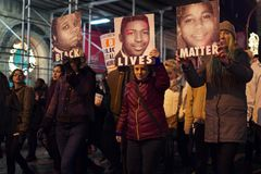 Women protest Eric Garner's death Royalty Free Stock Photo