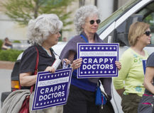 Women Protest North Carolina Abortion Restriction Royalty Free Stock Photography