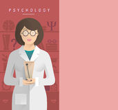 Women psychologist in glasses. Royalty Free Stock Photo