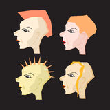 Women Punk Head Illustration Royalty Free Stock Photography