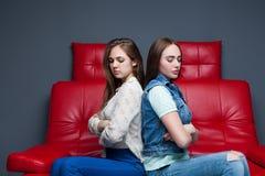 Women quarrel,two quarreling girlfriends Royalty Free Stock Photography