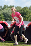 Women raising money for Cancer Charity in the Race for Life Royalty Free Stock Images