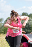 Women raising money for Cancer Charity in the Race for Life Royalty Free Stock Image