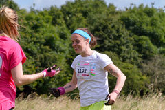 Women raising money for Cancer Charity in the Race for Life Royalty Free Stock Photo