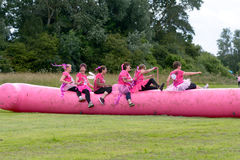 Women raising money for Cancer Charity in the Race for Life Stock Images