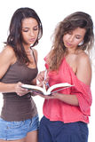 Women reading a book Stock Photo
