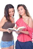 Women reading book Royalty Free Stock Image