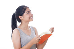 women reading a book royalty free stock photo