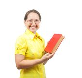Women with red book Stock Photos