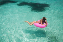 Women relax in floating Royalty Free Stock Images
