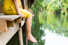 Women relaxation of foot Royalty Free Stock Photos