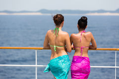 Women relaxing cruise Stock Image