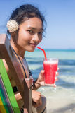 Women relaxing with drink Stock Photo