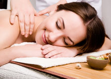 Women relaxing in spa salon Royalty Free Stock Photos