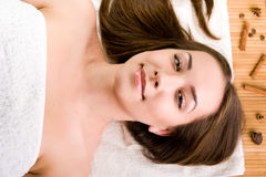 Women relaxing in spa salon Stock Images