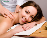 Women relaxing in spa salon Royalty Free Stock Images