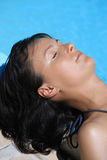 Women relaxing suntan Royalty Free Stock Photo