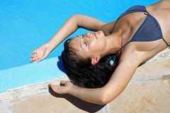 Women relaxing suntan Royalty Free Stock Photography