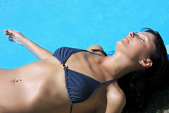 Women relaxing suntan Stock Photo