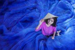 Women repair fishing net Royalty Free Stock Photo
