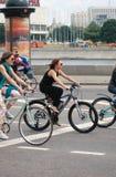 Women ride bikes. Stock Photography
