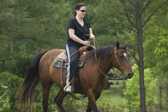 Woman rider Stock Photography