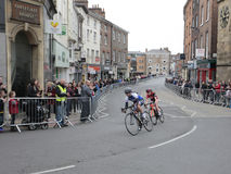 Women riders Tour de Yorkshire cycle race York Royalty Free Stock Photos