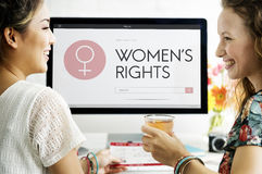 Women Rights Female Woman Girl Lady Feminism Concept Royalty Free Stock Image