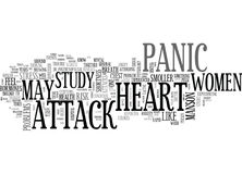 Women At Risk Of Heart Stroke Due To Panic Attack Word Cloud Stock Photography