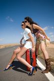 Women on the road Stock Image