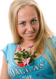 Women with rose Stock Photos