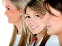 Women in a row Stock Photography