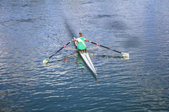 Women Rower in a boat Stock Images