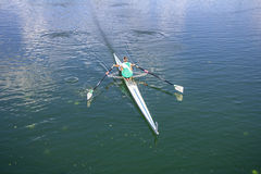 Women Rower in a boat Royalty Free Stock Photo