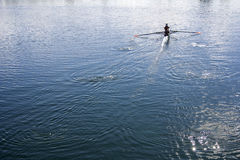 Women rowing in a lake Stock Images
