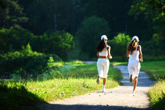 Women run Royalty Free Stock Photo