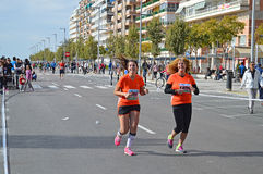 Women Runners In Marathon Stock Photo